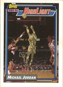 From the series 'Devalued by Gold. Devalued Michael Jordan Card No. 1