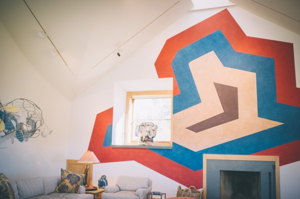 Sol LeWitt's Untitled drawing on the wall of the Shands' living room. Photo by Sarah Katherine Davis.