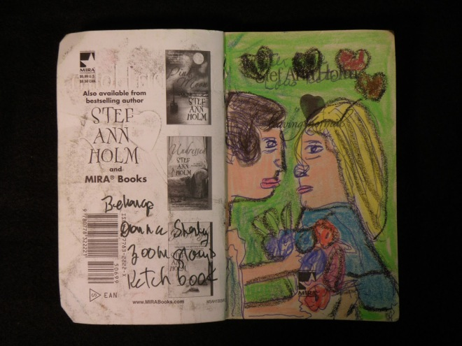 A page from a book repurposed by Donna.